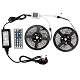 WenTop RGB Led Strip Kit,Waterproof Led Lights 32.8 Ft(10m) ,5050 RGB 300leds(30 led/m), 44key IR Remote Controller and Power Supply Included, Multi-coloured Led Light Strip for Home,Garden,Kitchen Cabinet,TV Lighting Decoration