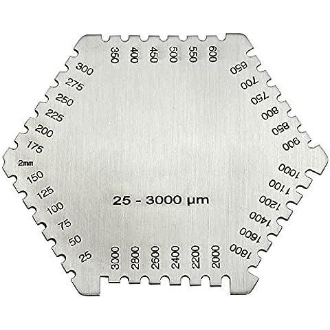 Película Húmeda peine 25-3000um