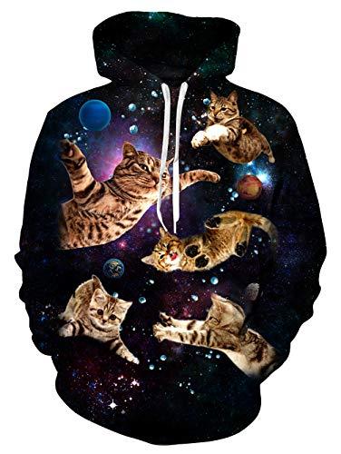 Math Mann Kostüm - Fanient Hoodie Männer Katzen-beiläufiger Langer Hülsen-Druck-Sweatshirts