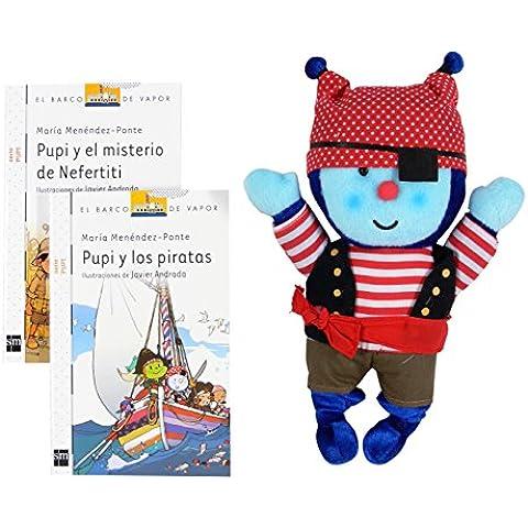 Pack 2 Libros Pupi Pirata  (¨Pupi Y Los Piratas´´, ´´Pupi Y La Momia De Nefertiti´´ ) (Barco de Vapor Blanca)