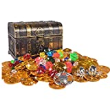 Monedas de Juguete Pirata Niños de Halloween Moneda Fiesta Piratas...