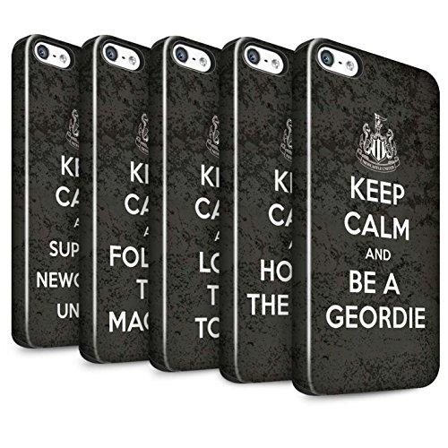Officiel Newcastle United FC Coque / Brillant Robuste Antichoc Etui pour Apple iPhone SE / Pack 7pcs Design / NUFC Keep Calm Collection Pack 7pcs