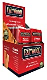 Fatwood Display of 26 packs of 4 lighters for BBQ and fireplace