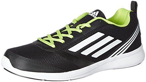 Adidas Men's Adiray M Black, White and Yellow Running Shoes - 7 UK/India (40.67 EU)