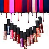 Lipstick 12 Colors Set Makeup Matte Lipstick Lip Gloss Pencil Beauty Long Lasting Lanspo (A)