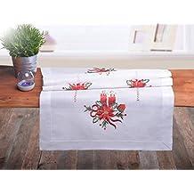 crema color crudo camino de mesa navideo camino de mesa decoracin de navidad mantel rectangular vela