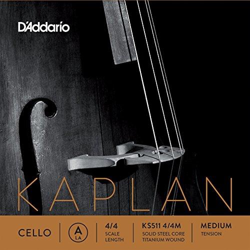 D'Addario KS511-4/4M Kaplan Cello Einzelsaite 'A' Wolfram umsponnen 4/4 Medium