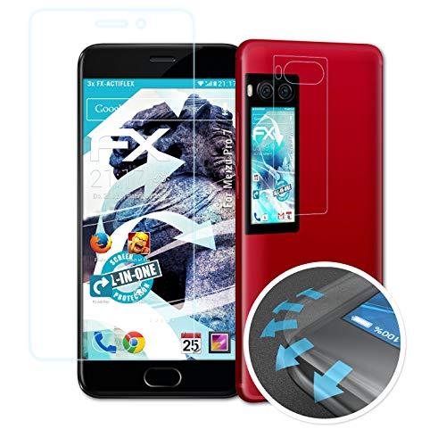 atFolix Schutzfolie passend für Meizu Pro 7 Folie, ultraklare & Flexible FX Bildschirmschutzfolie (3er Set)