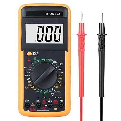 Digital Multimeter, Multimeter Messgeräte Digitales Voltmeter Amperemeter Ohmmeter, Akustischer Durchgangsprüfer Multimeter Voltmeter, AC/DC Multi Tester Spannung, Strom, Widerstand (Multimeter Test-batterie)