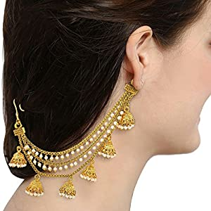 Aadita Fashion Jewellery Silver Gold Plated Long Hair Chain For Women