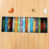 Tomatoa Designer Teppich Moderner Teppich Wohnzimmer Teppich Wohnzimmer Bunt Trendig Meliert Multicolour Schmutzfangmatte Designerteppich Kurzflor Teppich Kinderteppich (60 x 180CM)