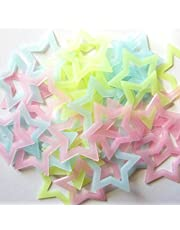 Stickonn Multi Colour Fluorescent Glow in The Dark Hollow Star Wall Sticker(30 Stars,Size: 4.7 x 4.7 cm)