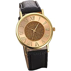 Mallom Women's Watch Glitter Dial Watch Black Band Free Delivery