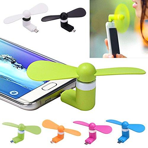 Micro USB Mini ventilador Portable USB Powered iPhone para iPhone 5//5s//6//6s//6plus//6S Plus//7//7S Plus//8/ Naranja
