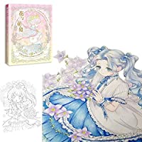 New Cute Flowers and Girls Coloring Book Secret Garden Style Line Drawing Book Kill Time Painting Books