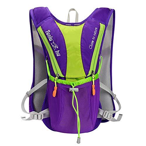 hSport Trinkrucksack | 2L-Wasser-Blasen | Marathon Laufweste, Wandern Radfahren Rucksack, lecksicheres Trinksystem