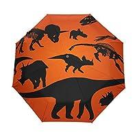 COOSUN Dinosaur Silhouette Automatic 3 Folding Parasol Umbrella