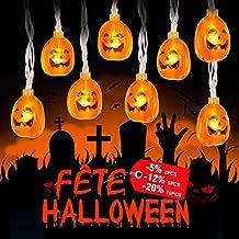 zerproc Halloween Guirlandes Lumineuse de fantôme/Citrouille 20LEDs en ABS USB L'atmosphère d'halloween s'allume Acrylique fantôme Style Décoration de Guirlandes Lumineuses pour Halloween 3.3M/10.8 ft