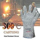 Gants Anti-Chaleur jusqu'à 300°C, certifié EN407 et EN388, pour Traitement Thermique du métal et Verre, Production de céramique, Production de cellules solaires, soudage électrique Industriel