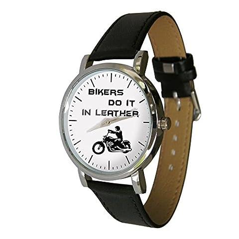 motards faire dans le cuir Design Watch. Cadeau idéal pour n'importe quel motard