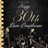 Buon Compleanno: 30 Anni I Libro Degli Ospiti per il 30° Compleanno I Decorazioni Compleanno Nero e Oro I Per 60 Ospiti I Per Messaggi e Foto I ... Idea regalo di compleanno per uomini e donne