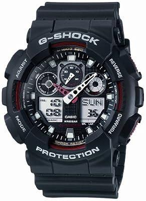 Casio Hombre Big Combi G-Shock Watch, Negro
