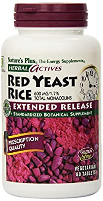 Nature's Plus, Herbal Actives, Red Yeast Rice, 600 mg, 60 Tablets by Natures Plus