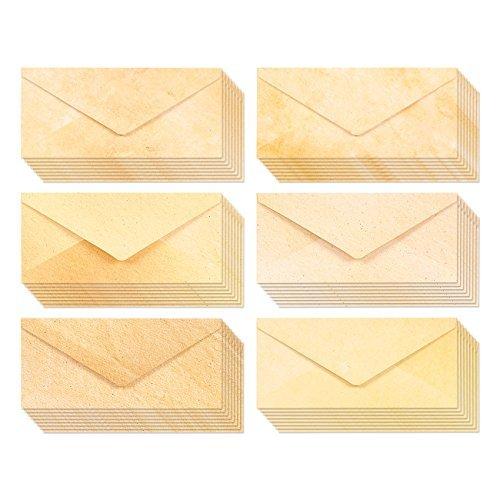 48Stück antik Stationery Umschläge für Schreiben und Druck-Classic Old Fashioned Briefumschläge Value Pack-22,1x 10,2cm-48Zählen