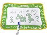 Hochwertige Malmatte mit Wasserstift & Malvorlagen - Malen & Schreiben - Pädagogische Lernmatte Spielmatte für Baby & Kinder - Lernen von Buchstaben Zahlen Zeichnen Malkoffer Malstifte Filzstifte Wassermatte