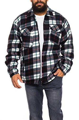 flanell jacke herren Herren Thermohemd Jacke ID428, Größe:M;Farbe:Dunkelgrau