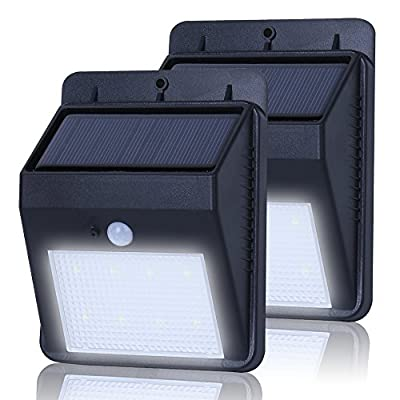 (8 Bright Nodes)LED Motion Solar Lights, Noza Tec Wireless Weatherproof Security Light Wall Secuirty Lamp with 3 Intelligent Modes for Garden, Outdoor, Fence, Patio, Deck, Yard, Home, Driveway, Stairs, Outside Wall etc. - cheap UK light shop.
