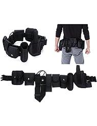 Yahill® Polizei Security Taktischer Gürtel Combat Tactical Belt Gear Nylon Heavy Duty,Schwarz