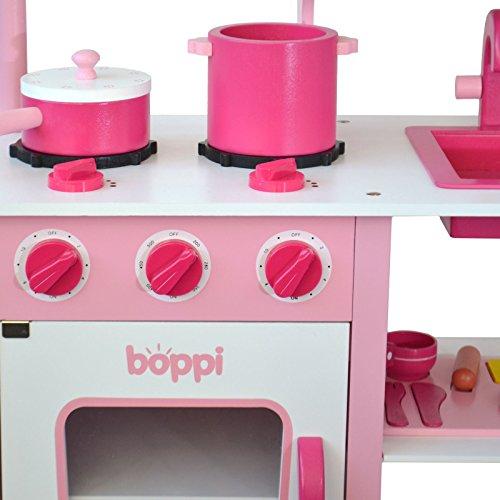 cucina in legno per bambini con 19 accessori visualizza le immagini