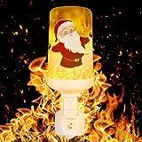 COULAX LED Flamme lampe Feuer Glühbirne mit Stecker Led Flamme Glühbirne Flackerlicht Dekorative Leuchte Simulierte Feuer Schwerkraftinduktion Lampe mit 3 Modi für Weihnachten Party