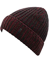 69fc0447e31 Hiwill Classic Men s Warm Winter Hats Thick Knit Cuff Beanie Cap with Lining