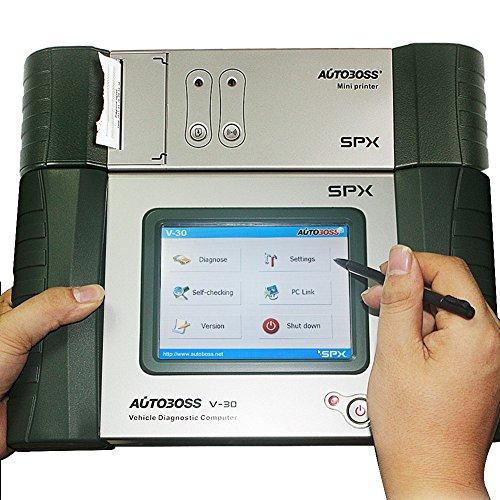Preisvergleich Produktbild Original SPX Autoboss V30 Pro Super Diagnosegerät OBD 2 Scanner Update online mit integrierter Mini Drucker