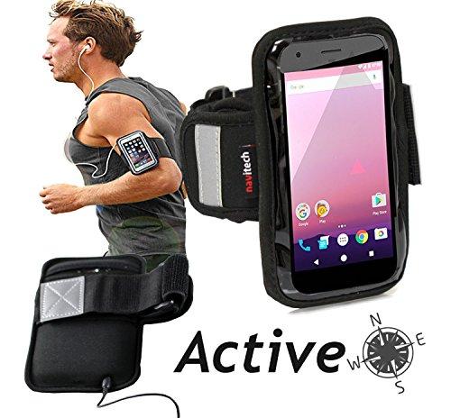 Preisvergleich Produktbild Navitech wasserdicht Schwarz Sport / Fitness / Jogging / Radfahren / Skifahren Armband Tasche Oberarmtasche Schutz Hülle Etui Case für das LG V10