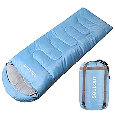 SOULOUT Sleeping Bag 3-4 Season Warm Weather and Winter, Lightweight, Waterproof – Great for Adults & Kids - Excellent Camping Gear Equipment, Traveling, and Outdoor Activities from SOULOUT