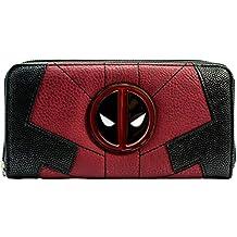Cartera de Marvel Deadpool Anti-héroe Juego para arriba rojo