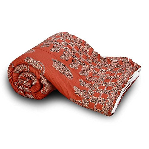 The Great Art Collection exclusive rajasthani rajai for winter jaipuri razai blanketRajasthani Paisley Design Cotton Single Bed Quilt 122