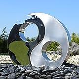 Edelstahl Element Yin Yang zum Bau für Gartenbrunnen Springbrunnen Zierbrunnen Skulptur Wasserspiel Brunnen