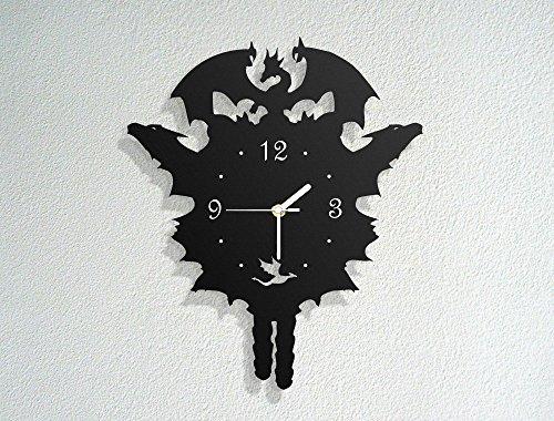 Dragon-Themed-Cuckoo-Clock-Khaleesi-Mother-of-Dragons-Fire-Breath-Modern-Novelty-Gift-Custom-Acrylic-Wall-Clock