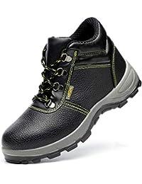 Calzado Deportivo De Seguridad para Hombres, Compuesto Calzado De Trabajo Protección Suela Media Anti-Perforante Aceite Antiestático Resistente Al Ácido Y Alcalinos Cuatro Estilos