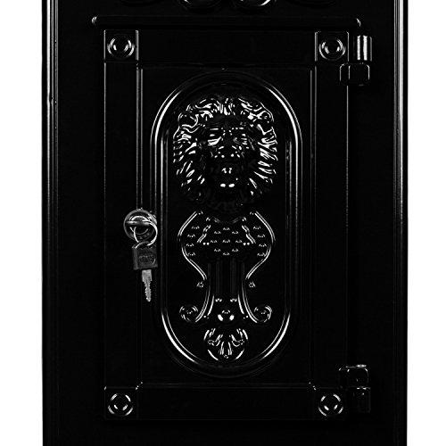 Maxstore Antiker englischer Standbriefkasten, rostfreies Aluminium, Höhe: 102,5 cm, Farbe: Anthrazit, 3 Jahre Garantie anthrazit - 7