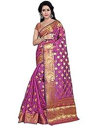 Hinayat Fashion Women's Banarasi Silk Saree(HNT01SRI410_Pink_Free Size)