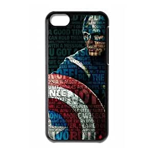 iPhone 5C Phone Case The Avengers Captain America Cover Personalized Cell Phone Cases HQU299413