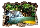 murando - 3D WANDILLUSION 210x150 cm Wandbild - Fototapete - Poster XXL - Loch 3D - Vlies Leinwand - Panorama Bilder - Dekoration - Wasserfall Natur c-C-0156-t-a