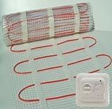 Fußbodenheizung Matte + Thermostat. * ALLE Größen * Heizung Elektro Bodenwärme, für Einbau unter Boden-Fliesen. 150W/M²