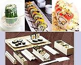 UCA® Kit 10 pezzi di sushi Maker riso rullo Produzione Stampi, Bianco