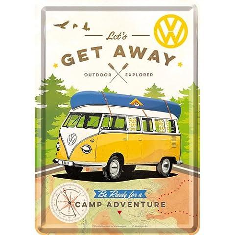 Nostalgic-Art 10293Volkswagen VW–Get Away, tôle Carte postale, 10x 14cm